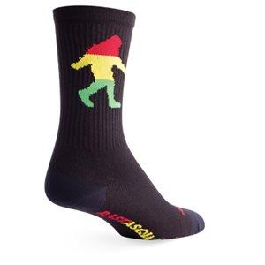 Rasta Squatch socks