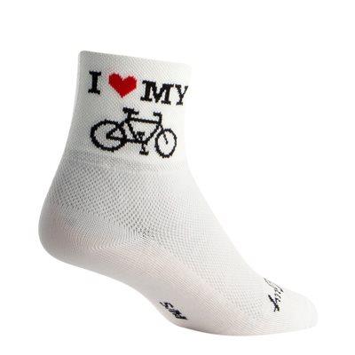 Heart My Bike socks