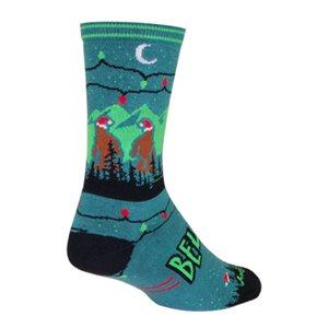 Santa Squatch socks