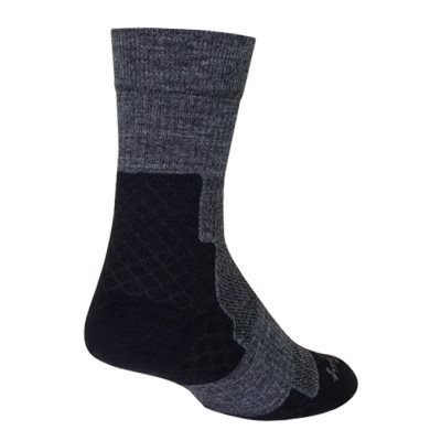 "Trailhead Charcoal Wool 7"" sock"